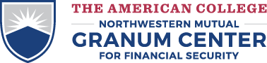 The American College Northwestern Mutual Granum Center for Financial Security logo
